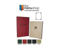 High-Quality One View Linen Menu Covers   The Menu Shop