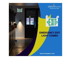 Make Indoor areas Safer by Mounting LED Emergency Exit Light Combo
