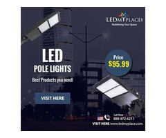 Use (LED Pole Light) At Outdoor Places For More Illumination