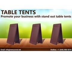 Table tent Menu Displays