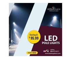 Install Commercial (LED Pole Lights) For Graceful Ambience