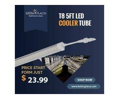 Enjoy Uniform Lighting by fixing 5FT LED Cooler Tubes Inside Commercial Coolers/Refrigerators