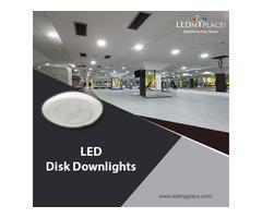 "Enjoy Modern Feel by Installing 4"" LED Disk Downlights"