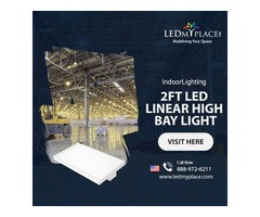 Install (2FT LED Linear High Bay Light) For Your Gym