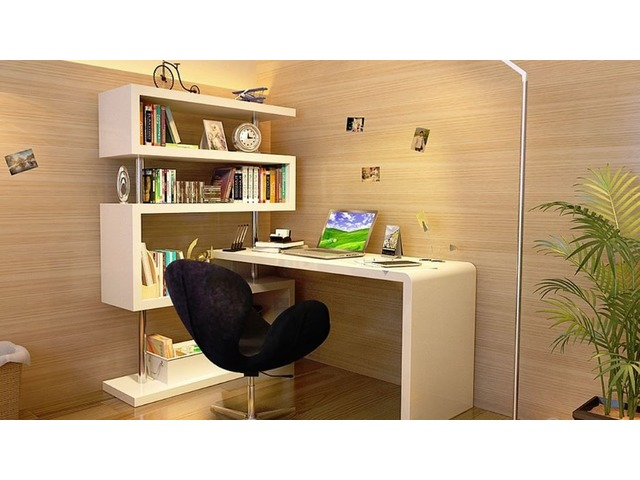 Modern Office Desk in White Lacquer | Get.Furniture | free-classifieds-usa.com