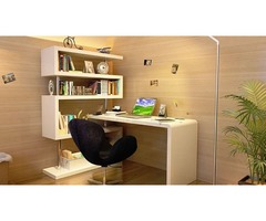 Modern Office Desk in White Lacquer | Get.Furniture