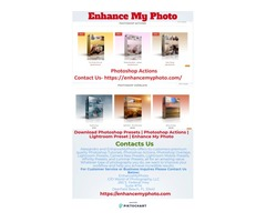 Download Photoshop Actions | Download Photoshop Presets - Enhance My Photo