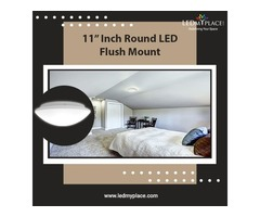 Install 11 Inch (Round LED Flush Mount) to Have Classy Ambiance