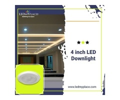 Install (4 Inch LED Downlights) that Fix Easily on the ceilings