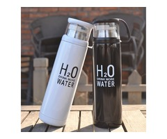 Honana 500ml H2O Stainless Steel Thermos Cup Winter Vacuum Flask Travel Mug