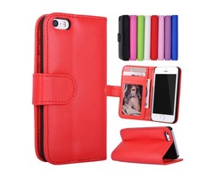 For iPhone 5S 4S SE 5 4 Stand Design Wallet Style Photo Frame Leather Case Phone Bag Cover With Card