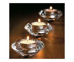 Glass Crystal Candelabra Candleholders Stand Tea Light Candle Stick Wedding Home Decor Gift