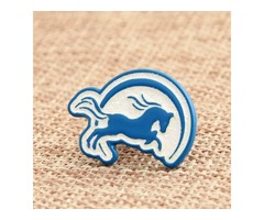 Ocean Blue Horse Custom Pins No Minimum