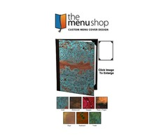 One View Patina Copper Menu Covers | The Menu Shop