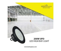 Switch To (LED UFO High Bay Light 200W) For High Lumen Efficiency