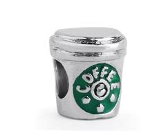 Wholesale 10pcs Coffee Cup Charm Beads 925 Siver Enamel European Charms Bead Fit Pandora Bracelet Fa