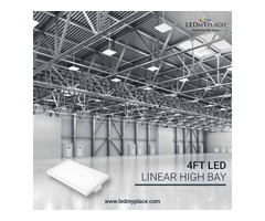 Install (4FT LED Linear High Bay Lights) To Have Proper Visibility