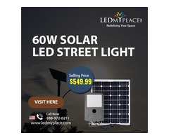 60W Solar LED Street Light Set Is the Best Option to Reduce Road Accidents