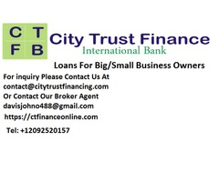 LOANS FOR BIG/SMALL BUSINESS OWNERS