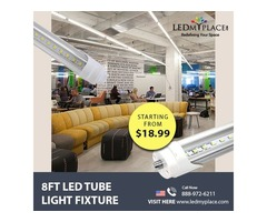 T8 8ft LED Tube Lights are the Best Replacement for Fluorescent Tubes - Grab Now