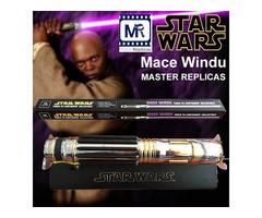 MR Star Wars Master Replices Mace Windu Ultimate metal alloy FX Lightsaber LED flash swords purple/s
