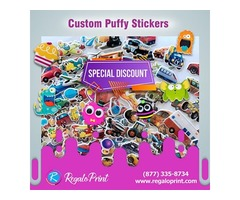 Brilliant Designs Of Puffy Stickers Printing Services| RegaloPrint