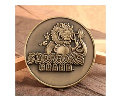 Personalized Coins | 5 Dragons Grand Custom Coins