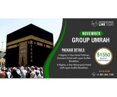 7 Nights November Umrah Group Package Just for $1550