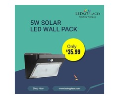 Make Outer Places Less Polluted By Installing 5w Solar LED Wall Packs