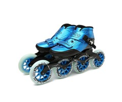 Speed Inline Skates Carbon Fiber 4*90/100/110mm Competition Skates 4 Wheels Street Racing Skating Pa
