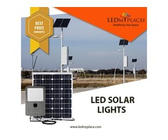 Install LED Solar Light For Public Parks, Parkings Lots And Remote Areas
