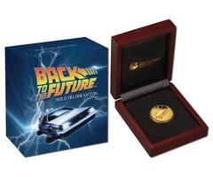 2015 Back to the Future Delorean 1/4oz Gold Proof Coin Perth Mint NEW