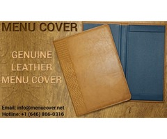Manufacturers & wholesalers of quality leather menu cover