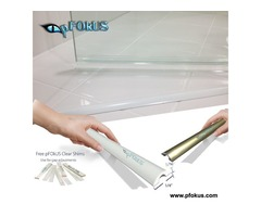 Shower Door Threshold - Frameless Threshold Strip | pFOkUS