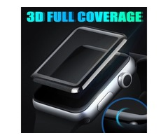 3D curved full cover 40mm 44mm screen tempered glass for Apple Watch series 4 electroplating process