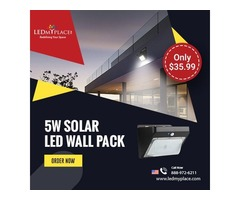 Install Motion Sensing 5W Solar LED Wall Pack Lights to Detect Intruder