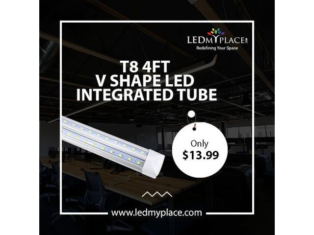 Peachy Uset84Ftvshapedledintegratedtubesforperfectlighting Home Interior And Landscaping Sapresignezvosmurscom