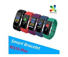 Original Color LCD Screen ID115 Plus Smart Bracelet Fitness Tracker Pedometer Watch Band Heart Rate
