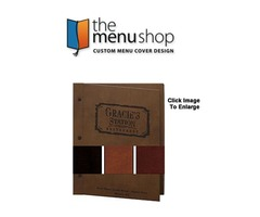 Leather Chicago Menu Board for Restaurant   The Menu Shop