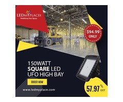 Install (150W Square LED High Bay Light) For More Illumination