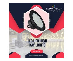 Install (UFO LED High Bay Lights) For Indoor Commercial Lightings