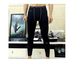 Men's Exercise Gym trousers Pro Quick-dry Sportswear Running Bodybuilding Skin Sport Training Fitnes