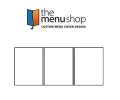 Triple Panel Foldout Heat Sealed Menu Cover | The Menu Shop