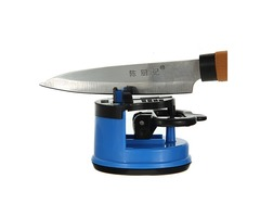 Kitchen Safety Knife Sharpener With Secure Suction Pad Portable Knife Grinder For Travel Outdoor