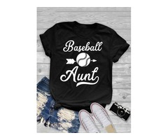 Round Neck Short-sleeved Baseball T-shirt