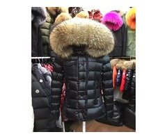 Branded Women Winter Fox Fur White Duck Down Jacket Designer Lady Zipper Short Hooded Winter Outerwe