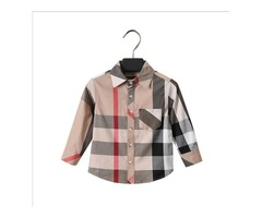 plaid shirt Hot selling American NEW arrival autumn long Sleeve Lapel shirt high quality pure cotton