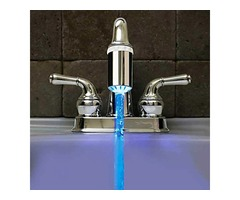 No Battery Water Faucet Glow LED Temperature Sensor Tap