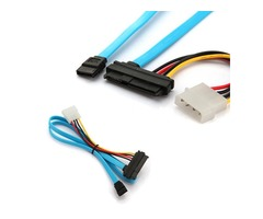 7 Pin SATA Serial ATA To SAS 29 Pin & 4 Pin Male Power Cable