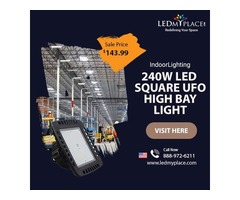 Replace Heavy MH Lights With (240W Square UFO High Bay LED Lights